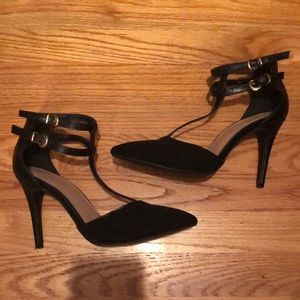Sleek black high heels